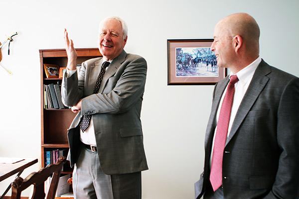 Bill Broughton Discussing Case